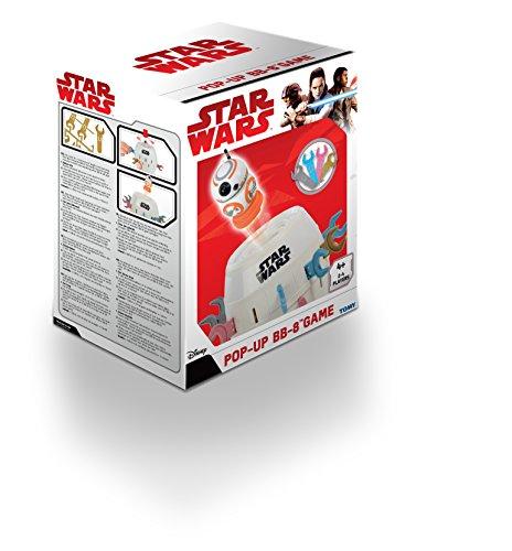 TOMY-T72643-Kinderspiel-Pop-Up-BB-8-Hochwertiges-Aktionsspiel-fr-die-ganze-Familie–Star-Wars-Spiel-Verfeinert-Die-Geschicklichkeit-Ihres-Kindes-ab-4-Jahre