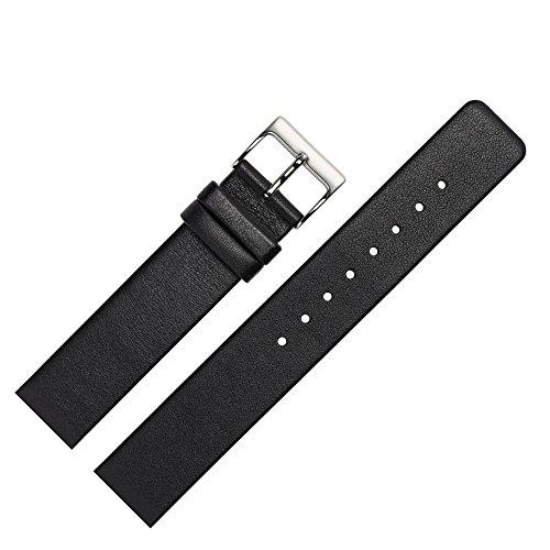 MARBURGER-Uhrenarmband-22mm-Leder-Schwarz-Skagen-Spezialanstoss-Uhrband-7622210000120