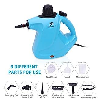 MLMLANT-dampfreiniger-Mehrzweck-groe-Kapazitt-450ML-Wassertank-mit-Handdampfreiniger-Druck-mit-9-teiliges-Zubehr-fr-Fleckenentfernung-Teppiche-Vorhnge-Bettwanzen-Steuerung-Autositze