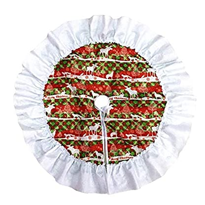 CHENZHAOL-Baumrock-60-cm-2362-Zoll-Weihnachtsbaum-Rock-Single-Layer-Kuchen-Baum-Rock-for-Zuhause-Natal-Natal-Baum-Rcke-Neujahr-Dekoration