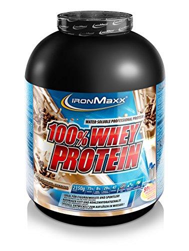 IronMaxx 100% Whey Protein / Wasserlösliches Whey Eiweißpulver / Proteinshake mit Latte Macchiato Geschmack / 1 x 2,35 kg Dose