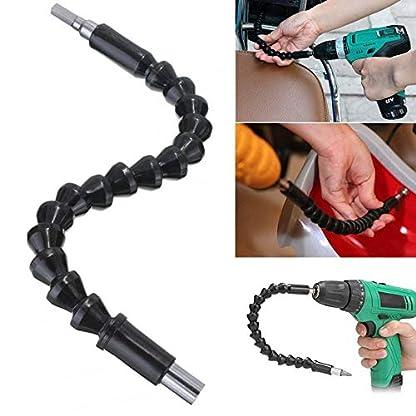 Flexible-Bohrerweiterung-Schraubenzieher-295mm-weich-biegsam-fr-Schraubenzieher-Elektrobohrer-universal-aus-schwarzem-Kunststoff-und-Metall