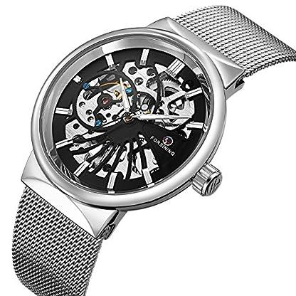 affute-Mechanische-Herren-Uhren-CLASSIC-dnn-Skelett-Silber-Ton-Mesh-Edelstahl-Band-automatische-aufziehbar-Analog-Armbanduhr