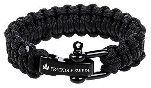The Friendly Swede Paracord Survival-Armband mit Edelstahlverschluss – ideales Zubehör für Ihre Überlebensausrüstung