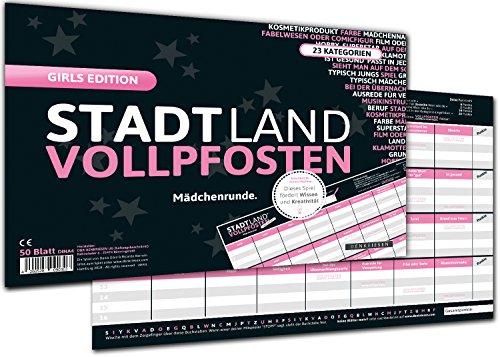 DENKRIESEN-Stadt-Land-VOLLPFOSTEN-Girls-Edition-Stadt-Land-Fluss-FR-Mdchen-Spiel-FR-Mdchen-Geschenk-FR-Mdchen