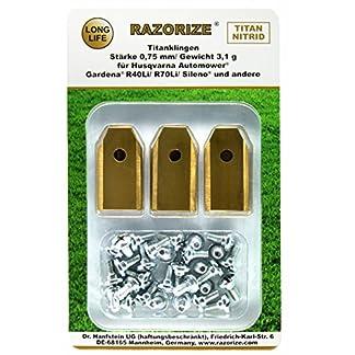 RAZORIZE-30x-Longlife-Titan-Ersatz-Messer-Klingen-Fr-Alle-HusqvarnaGardenaYardforceMcCulloch-MhroboterAutomower-31-g075-mm-Mit-Schrauben-30-Stck