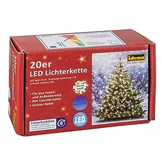 Idena-8325052-LED-Lichterkette-mit-20-LED-in-warm-wei-mit-8-Stunden-Timer-Funktion-fr-Partys-Weihnachten-Deko-Hochzeit-als-Stimmungslicht-ca-39-m