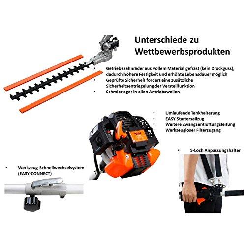 FUXTEC-Benzin-Motorsense-FX-MT252ER-5in1-Multitool-52-cc-Profi-Tragegurt-und-inkl-1m-Verlngerung-3-PS-Kombigert-Heckenschere-mit-verstellbarem-Hochentaster-Kombisystem-Freischneider-fs-2-Takt-Test-Obe