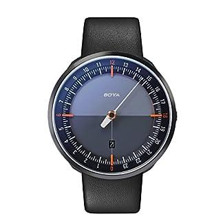 BOTTA-Design-UNO-24-Plus-Orange-Herren-24H-Einzeigeruhr-Analog-Schweizer-Quarzwerk-mit-Lederarmband-720000