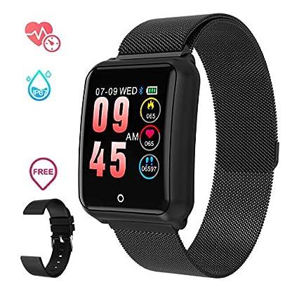 Smartwatch-Herren-GOKOO-Smart-Uhr-Stylische-IP67-Wasserdicht-Sportuhren-Mnner-Jungen-Aktivittstracker-mit-Pulsmesser-Kalorienzhler-Schlaftracker-8-Trainingsmodi-fr-Android-IOS