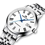 Herren-Uhren-Mnner-Wasserdicht-Luxus-Sport-Dnne-Edelstahl-Silber-Armbanduhr-Mann-Einfach-Datum-Kalender-Analoge-Rmische-Ziffern-Uhr
