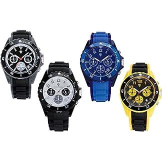 AURIOL-Herren-Chronograph-Armbanduhr-analog-Quarz-Silikon-Armband