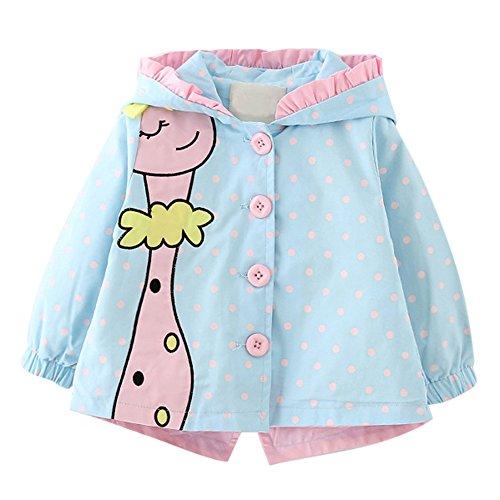 Baby Mädchen Frühling & Herbst Jacken Kinder Prinzessin outwear Mantel mit Kapuze Karikatur-Giraffe