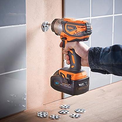 VonHaus-Akku-Schlagschrauber-Getriebekopf-aus-Aluminiumguss–Zoll-Innensechskant-LED-Arbeitsbeleuchtung-Variable-Geschwindigkeit-Inkl-Akku-Ladegert-Werkzeugtasche-120Nm