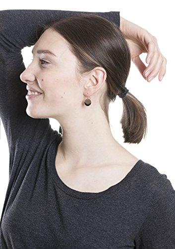 Happiness Boutique Damen Ohrhänger mit Plättchen in Rosegold | Runde Ohrringe Kreis Disk Form Kleine Hängeohrringe