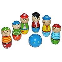 Unbekannt-7-tlg-Set-Tischkegelspiel-aus-Holz-fr-Kinder-klein-Holzkegelspiel-bunte-Farben-Kegeln-Kegel-bunt-Holzkegel-Kind-Kegelspiel-Tischkegeln-Tischbowling