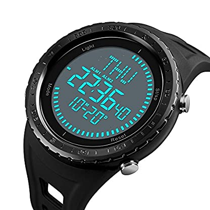 Kompass-Herren-Armbanduhr-Digitale-Sport-Armbanduhr-mit-groem-Zifferblatt-mit-LED-Uhren-Armee-wasserdicht-Stofest-Armbanduhr