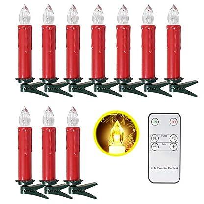 SunJas-1020-3040-er-Weinachten-LED-Kerzen-Weihnachtsbeleuchtung-Weihnachtsbaum-Kerzen-mit-Fernbedienung-kabellos-3-verscheidene-Lichtmodifikationen-fr-Weihnachten-Christbaumsdeko