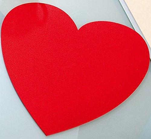 Filzuntersetzer Valentinstag Herz groß Ø 40 cm Tischset Filz rot 4er Set Gilde