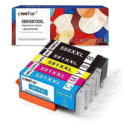 CSSTAR-Kompatibel-Druckerpatronen-Ersatz-fr-Canon-PGI-580-CLI-581-XXL-Multipack-mit-CHIP-fr-Pixma-TS6150-TS6151-TR7550-TS8150-TS8151-TS8152-TR8550-TS9150-TS9155-Drucker-1PGBK1B1C1M1Y
