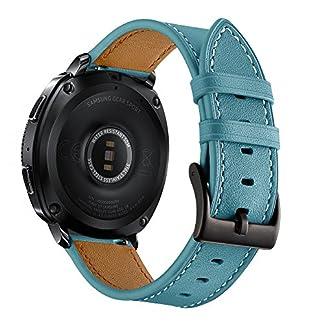 Armband-fr-Samsung-Gear-Sport-Lederarmband-Ersatzband-Gear-S2-Classic-Armbnder-mit-Edelstahl-Metallschliee-fr-Sport-Fitness-Samsung-Gear-Sport