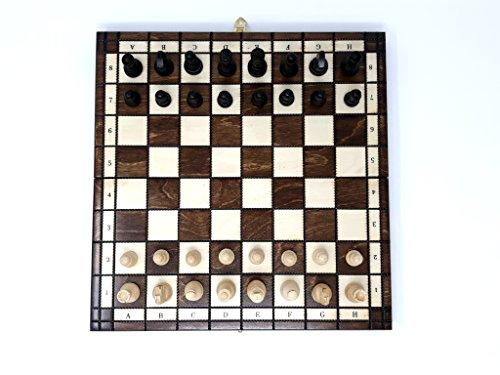 Prime-Chess-akademisch-Schachspiel-aus-Holz-Faltreifen-Platte-klassisch-Reise-Set-12-30cm-x-30cm