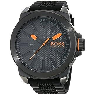 Hugo-Boss-Orange-New-York-Herren-Armbanduhr-Quartz-mit-schwarzem-Silikon-Armband-1513004