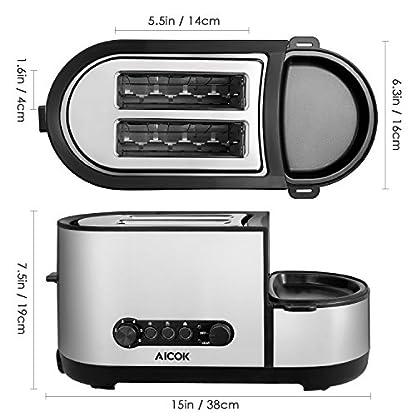 Aicok-Edelstahl-Toaster-5-in-1-Multifunktions-Toaster-mit-Eierkocher-Mini-Pfanne-Dampfgarer-2-extra-groe-Schlitze-mit-brtchenaufsatz-7-Brunungsstufen-BPA-frei-1250-W