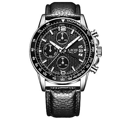 Lige-Herren-Automatik-Mechanische-Klassische-Stil-Uhr-Mit-Edelstahl-Armband-Wasserdichte