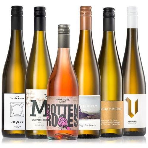 GEILE-WEINE-Weinpaket-EINFACH-TRINKEN-6-x-075l-Probierpaket-mit-Weiwein-und-Roswein-von-Winzern-aus-Deutschland-und-Italien