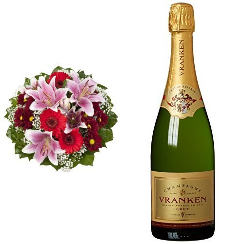 Blumenstrau-Charlotte-mit-rosa-Lilien-Champagne-VRANKEN-Grande-Reserve-Brut-1-x-075-l
