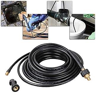 Wolketon-Rohrreinigungsschlauch-20m-180bar-60C-Rohrreiniger-fr-Krcher-Anschluss-Bajonett-Rohrreinigungsset-inkl-Adapter-und-dse-fr-Hochdruckreinigerextrem-wendig