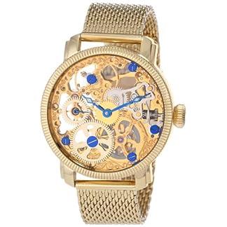Akribos-XXIV-Herren-Spirit-Analog-Mechanische-Armbanduhr-mit-Edelstahl-Armband