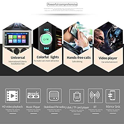 EisEyen-2DIN-Auto-Mp5-Player-Autoradio-Bluetooth-7-Zoll-HD-Touchscreen-Auto-Radio-Car-Radio-Auto-Multimedia-Player-TF-Cardup-to-32GB-FM-Bluetooth-Rear-View-Camera-Rear-Camera-Input-Aux-In