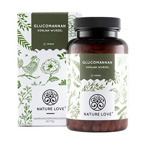 Glucomannan aus der Konjak Wurzel von Nature Love – 120 Kapseln. 4000mg je Tagesdosis – Abnehmen – Hochdosiert, vegan, hergestellt in Deutschland