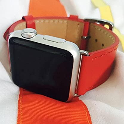 Apple-Uhrenserie-Armbanduhr-Band-Manschette-Leder-iWatch-Riemen-38-42mm
