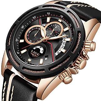 Herrenuhren-LIGE-Mode-Wasserdicht-Sport-Analog-Quarzuhr-Mnner-Luxus-Geschft-Kleid-Schwarz-Leder-Chronograph-Datum-Herren-Gold-Armbanduhr