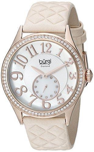Burgi-Damen-Quarzuhr-mit-Mutter-von-Pearl-Zifferblatt-Analog-Anzeige-und-Pink-Leder-Strap-bur141nu