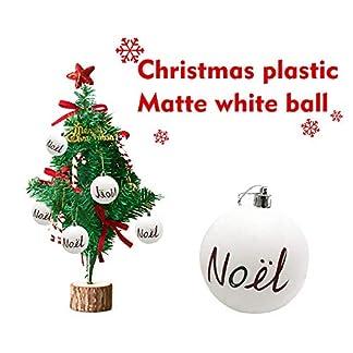 FeiliandaJJ-Christbaumkugeln-6CM-Weihnachtskugel-Matte-weie-Kugel-Weihnachten-Deko-Anhnger-Christbaumkugeln-fr-Weihnachtsbaum-Party-Home-Hochzeit