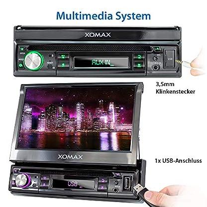 XOMAX-Autoradio-mit-Touchscreen-Bildschirm-DVD-CD-USB-1DIN
