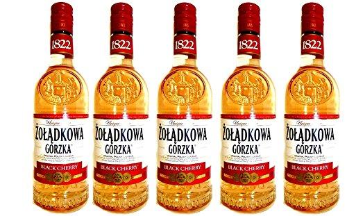 Zoladkowa-Gorzka-Schwarzkirsche-Black-Cherry-5-Flaschen-Neuheit