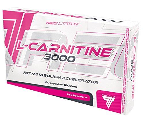 Trec Nutrition L-Carnitine 3000 Fettburner Fettverbrenner Fettreduktion Bodybuilding 60 Kapseln