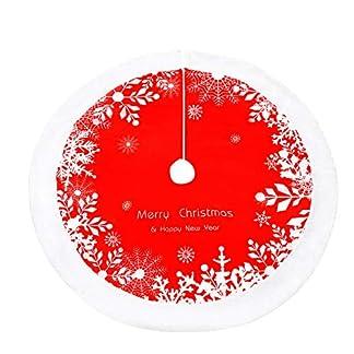WERNNSAI-Roter-Weihnachtsbaumdecke-Wei-Plsch-Weihnachtsdekorationen