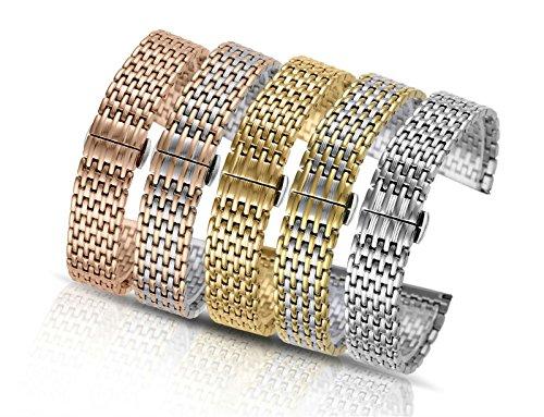 20mm-High-End-Edelstahl-Uhrenarmbnder-schwere-Art-einzigartig-gefaltete-Muster-fr-Kleidung-und-Freizeit-Armbanduhren