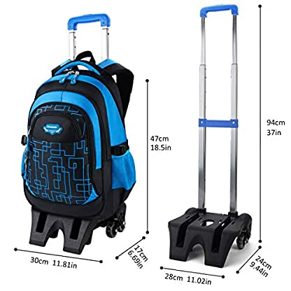 Trolley-RucksackFanspack-Schultrolley-Schulrucksack-Trolley-Kinder-Schulranzen-Trolley-Kinderkoffer-Trolley-Tasche-Schultasche-Trolley-fr-Mdchen-Jungen