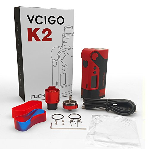 E Zigarette 230W Mod Box Set,E Cig SIGELEI Vcigo K2 Vapor Kit ohne E-Liquid und Nikotinfrei (Rot) + Kostenlose Wireless Fast Charger für SAMSUNG Galaxy S8/S8+/S7/S7 Edge/S6 dge+/note5
