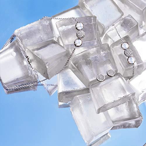s.Oliver Damen Ohrstecker rund aus Edelstahl  mit Swarovski Kristallen