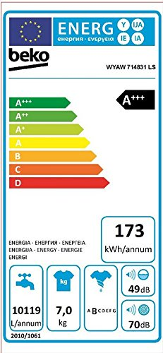 Beko-WYAW-814831-LS-Waschmaschine-FrontladerA-1400-UpMSelbstreinigungWei-16-WaschprogrammeWatersafe-Mengenautomatik