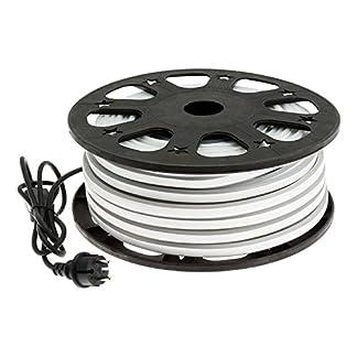 SMD-Neon-bifacciale-A1-16x8mm-50m-6000-LED-Luce-Fissa-230V-Esterno-Cavo-Bianco-Set-Accessori-x1