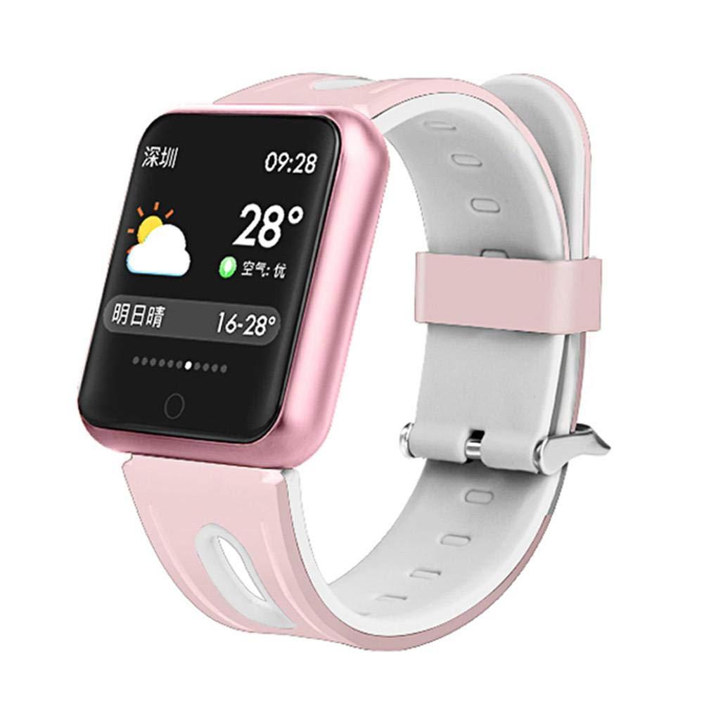 Besteffie-Fitness-Tracker-Fitness-Armband-mit-Wettervorhersage-Herzfrequenz-Monitor-Kalorienzhler-IP67-wasserdicht-Schrittzhler-Smartwatch-fr-Android-iOS